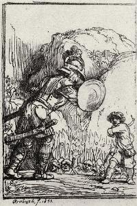 David and Goliath by Rembrandt van Rijn