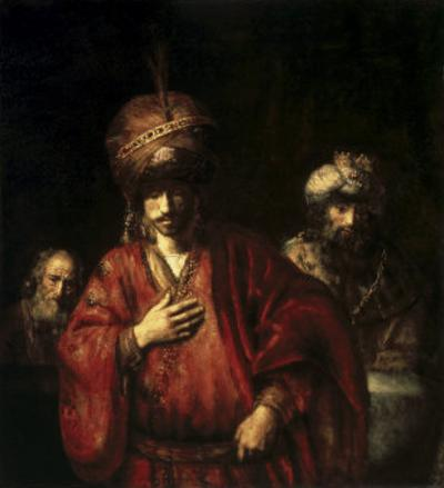 David and Uriah by Rembrandt van Rijn