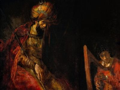 David Playing the Harp Before Saul, 1657 by Rembrandt van Rijn