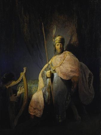 David Playing the Harp before Saul, C. 1630 by Rembrandt van Rijn