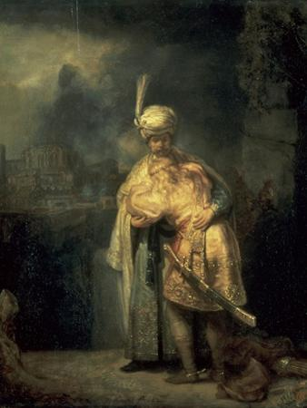 David's Farewell from Jonathan by Rembrandt van Rijn