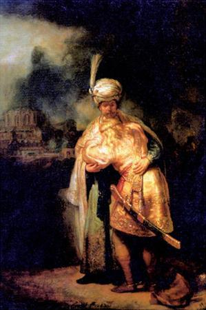 David's Farewell with Jonathan by Rembrandt van Rijn