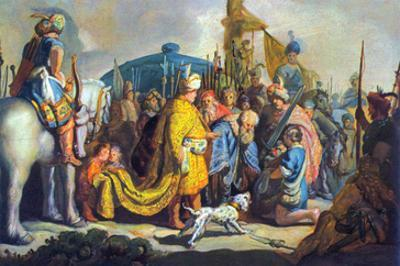 David with Goliath before Saul by Rembrandt van Rijn