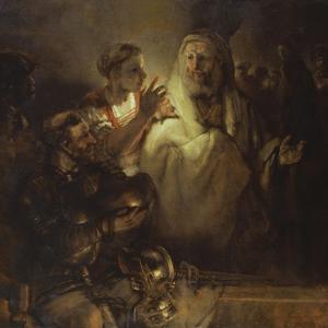 Denial of St. Peter by Rembrandt van Rijn