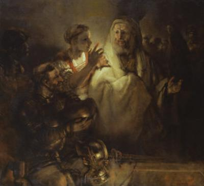Denial of St. Peter by Rembrandt van Rijn