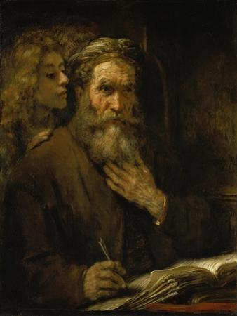 Der Hl,Matthaeus Und Der Engel, 1661 by Rembrandt van Rijn
