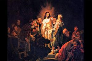 Doubting Thomas by Rembrandt by Rembrandt van Rijn