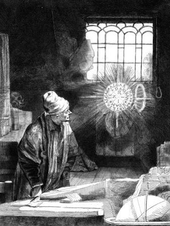 Dr Faustus in His Study by Rembrandt van Rijn