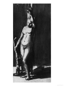 Female Nude, Drawing, British Museum, London by Rembrandt van Rijn