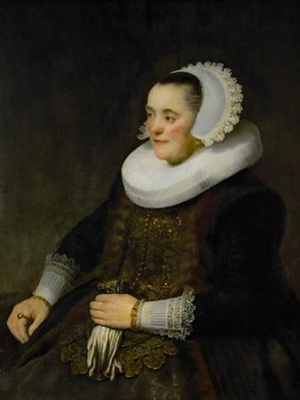 Female Portrait (Woman Looking at Her Husband) by Rembrandt van Rijn