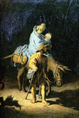 Flight into Egypt by Rembrandt van Rijn