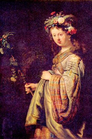 Flora (Portrait of Saskia as Flora) by Rembrandt van Rijn