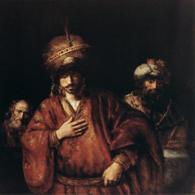 Haman Recognizes His Fate, C1665 by Rembrandt van Rijn