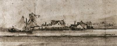 Het Molentje (The Small Mill), Seen from Amsteldijk by Rembrandt van Rijn