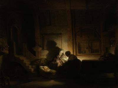 Holy Family at Night by Rembrandt van Rijn