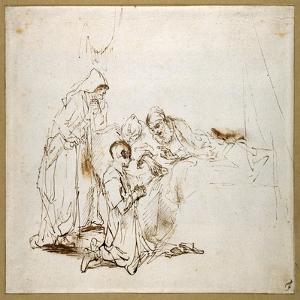 Isaac Blessing Jacob by Rembrandt van Rijn