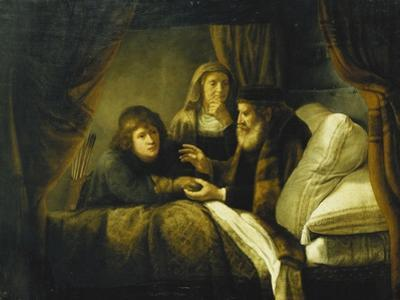 Issac Blessing Jacob, C.1640 by Rembrandt van Rijn