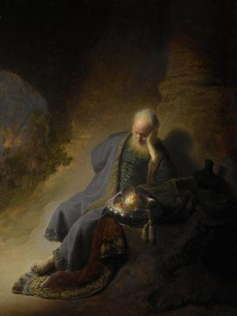 Jeremiah Lamenting over the Destruction of Jerusalem, 1630 by Rembrandt van Rijn