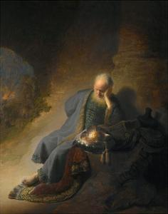Jeremiah Lamenting the Destruction of Jerusalem by Rembrandt van Rijn