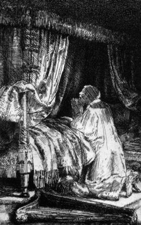 King David at Prayer, 1652 by Rembrandt van Rijn