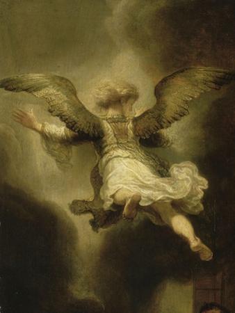 L'Archange Raphaël quittant la Famille de Tobie by Rembrandt van Rijn