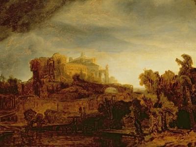 Landscape with a Chateau by Rembrandt van Rijn