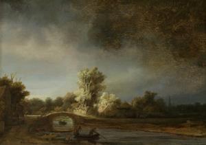 Landscape with a Stone Bridge, 1638 by Rembrandt van Rijn