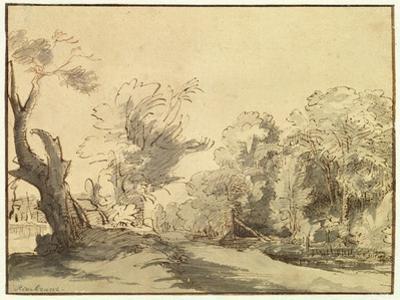 Landscape by Rembrandt van Rijn