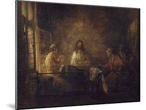Les Pèlerins d'Emmaüs by Rembrandt van Rijn