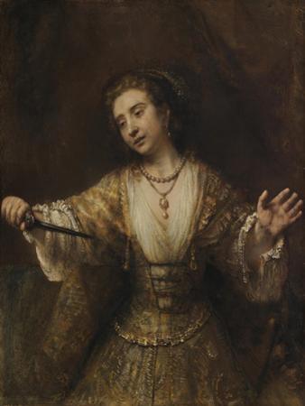 Lucretia, 1664 by Rembrandt van Rijn