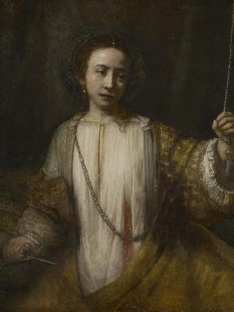 Lucretia, 1666 by Rembrandt van Rijn