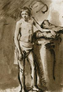 Male Nude, Upright, Around 1646 by Rembrandt van Rijn