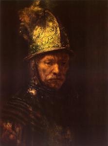 Man with Helmet by Rembrandt van Rijn