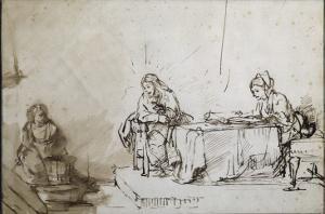 Maria et Martha by Rembrandt van Rijn