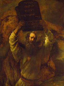 Moses Breaking the Tablets of the Law, 1659 by Rembrandt van Rijn