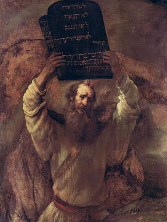 Moses Smashing the Tablets of the Law, 1659 by Rembrandt van Rijn