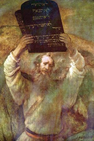 Moses with the Commandments