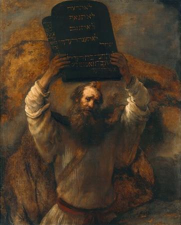 Moses with the Ten Commandments by Rembrandt van Rijn