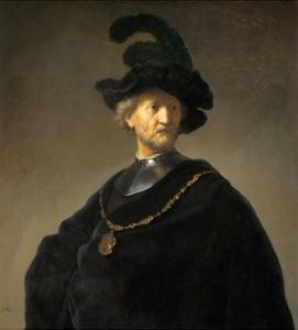 Old Man with a Gold Chain by Rembrandt van Rijn