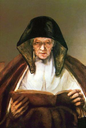 Old Woman, Reading by Rembrandt van Rijn