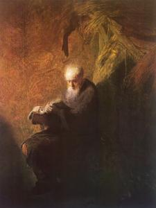 Philosopher Reading by Rembrandt van Rijn
