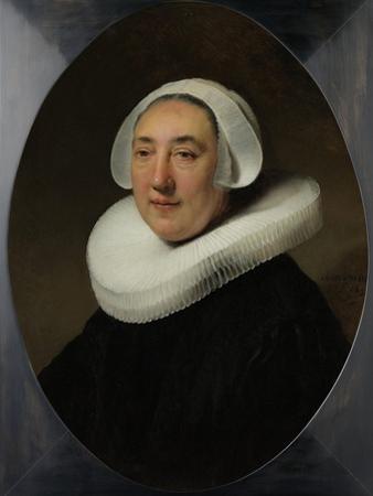Portrair of Haesje Jacobsdr Van Cleyburg by Rembrandt van Rijn