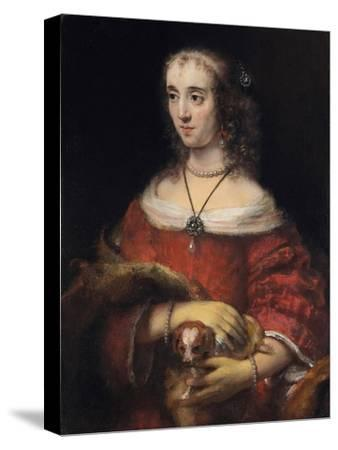Portrait of a Lady with a Lap Dog, Ca 1665