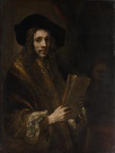 "Portrait of a Man (""The Auctioneer""), c.1658-62 by Rembrandt van Rijn"