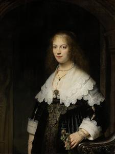 Portrait of a Woman, Possibly Maria Trip, 1639 by Rembrandt van Rijn