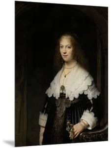 Portrait of a Woman, Possibly Maria Trip, 1639 by Rembrandt van Rijn