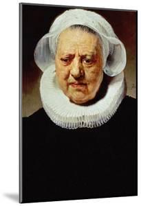 Portrait of Aechje Pesser, Aged 83, Widow of Rotterdam Brewer Jan D. Pesser, 1634 by Rembrandt van Rijn
