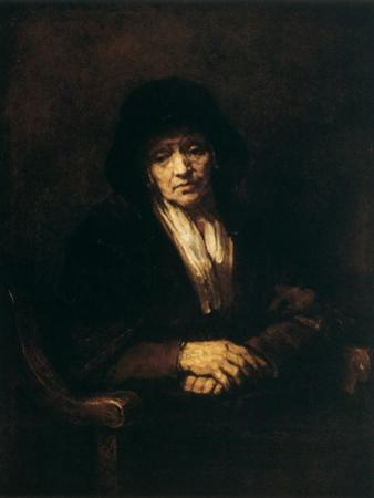 Portrait of an Old Woman, 1654 by Rembrandt van Rijn
