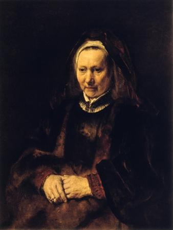 Portrait of an Old Woman, 17th Century by Rembrandt van Rijn