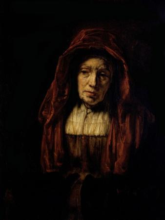 Portrait of an Old Woman by Rembrandt van Rijn